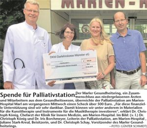 Spende für Palliativstation